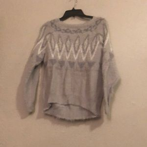 Gray patterned Lauren Conrad sweater